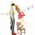 illustratie lange man 4 - birthdaykiss