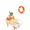 illustratie lange man 5 - taking a bath